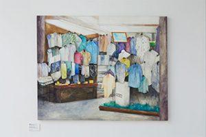《紳士服のお店》アクリル、キャンバス、2016