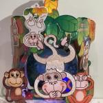 今年の干支「猿」の手持ちランタンを作ってみた♪